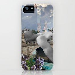 Walking on edge iPhone Case