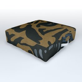 Golden Tiger Outdoor Floor Cushion