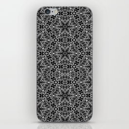Black and white stars and squiggles 5015 iPhone Skin