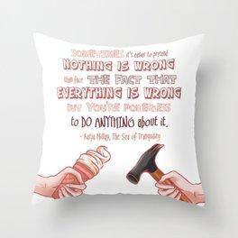 The Sea of Tranquility - Katja Millay Throw Pillow