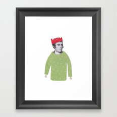 The embarrassing Christmas Jumper Framed Art Print