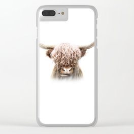 Scottish Highland Cow Clear iPhone Case