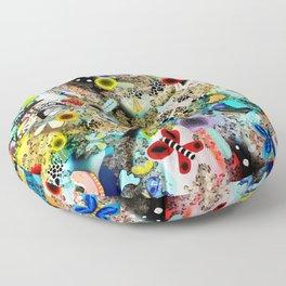 Butterfly leopard paradise Butterflies Floor Pillow