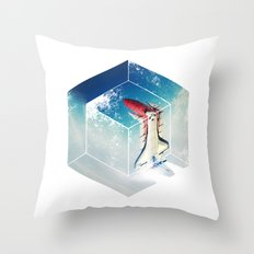 Into the Fourth Dimension Throw Pillow