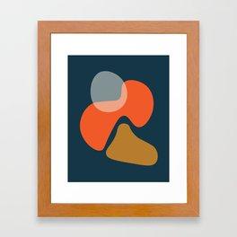 Abstract # 3 Blue Orange Framed Art Print