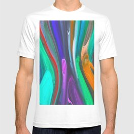 393 - Abstract Colour Design T-shirt