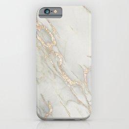 Marble Love Bronze Metallic iPhone Case