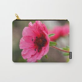 Pink Potentilla Carry-All Pouch