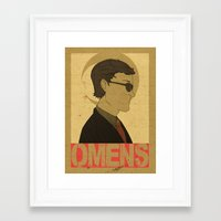 good omens Framed Art Prints featuring OMENS by Cool Like Jello