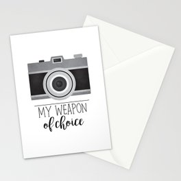 My Weapon Of Choice - Photographer Camera Stationery Cards