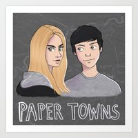 paper towns Art Prints featuring Paper Towns by Joan Pons