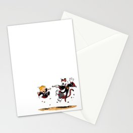 Calvin and Hobbes Magic Spells Inspired Parody Stationery Cards
