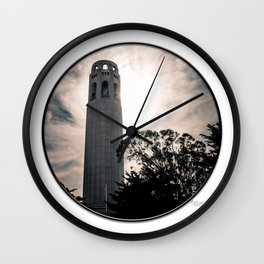Coit Tower, SF Wall Clock