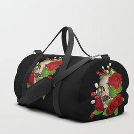 Skull Bed of Roses Duffle Bag