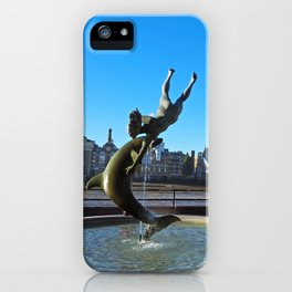 Girl With A Dolphin iPhone Case