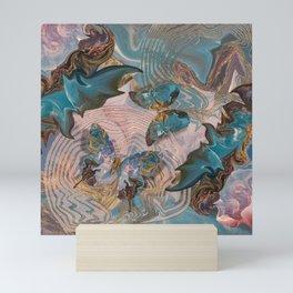 Butterflies Marble Paradise Mini Art Print