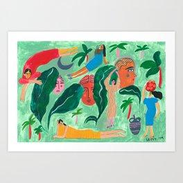 Jungle daze Art Print