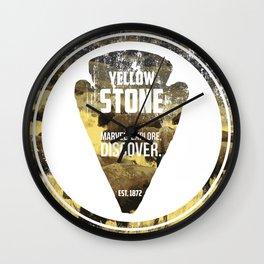 Yellow Stone Wall Clock