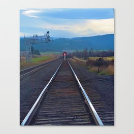 Wrong Side of the Track - Oncoming Train Canvas Print