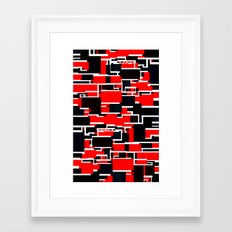Black and Red Framed Art Print