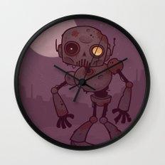 Rusty Zombie Robot Wall Clock