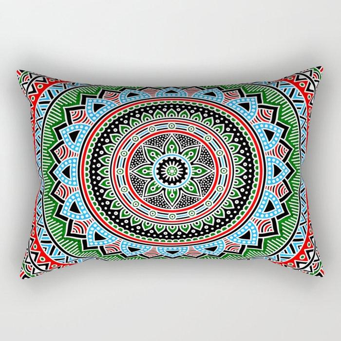 Hippie Mandala 14 Rectangular Pillow