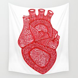 Anatomically Correct Heart Design Wall Tapestry
