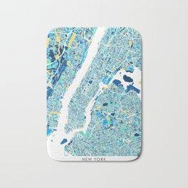 New York City Map United states full color Bath Mat