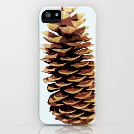 Simple Modern Pinecone Digital Art iPhone Case