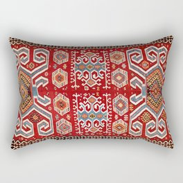 Karakuzulu  Antique Turkish Manisa Kilim Print Rectangular Pillow