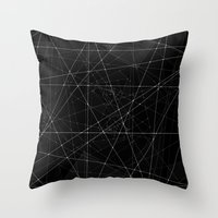 constellations Throw Pillows featuring Constellations by Dood_L