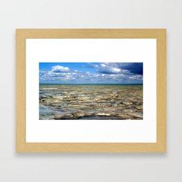 Clear Rocky Lake Framed Art Print