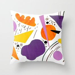 Violin sounds Original Modern Art Collage Throw Pillow