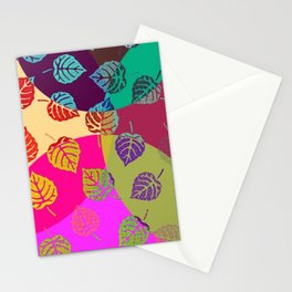 Design - Colourful Leaves Stationery Cards