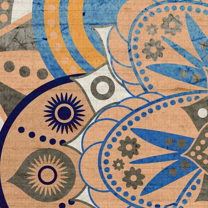 Blue and Gold Mandala Leggings