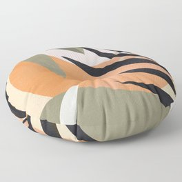 Abstract Art Tropical Leaves 2 Floor Pillow