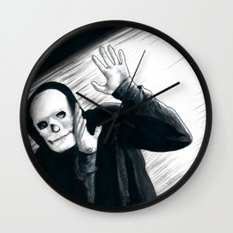 A Stupid Mask Is Not Going To Make You Invincible, Dude Wall Clock