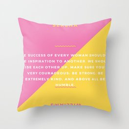 Serena Williams On Women Supporting Each Other 3 Throw Pillow