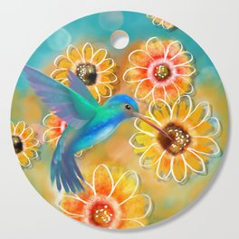 Hummingbird Bounty Cutting Board