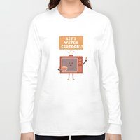 cartoons Long Sleeve T-shirts featuring Weekend Mood by Teo Zirinis