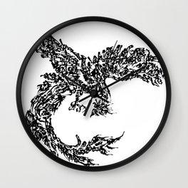 Kanji Calligraphy Art :phoenix Wall Clock