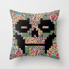 The Black smiles Throw Pillow
