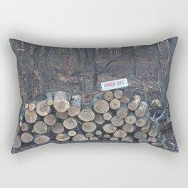 Hands Off Rectangular Pillow