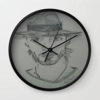 jared leto Wall Clocks featuring Jared Leto. by TheArtOfFaithAsylum