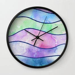 Watercolor Pattern Wall Clock