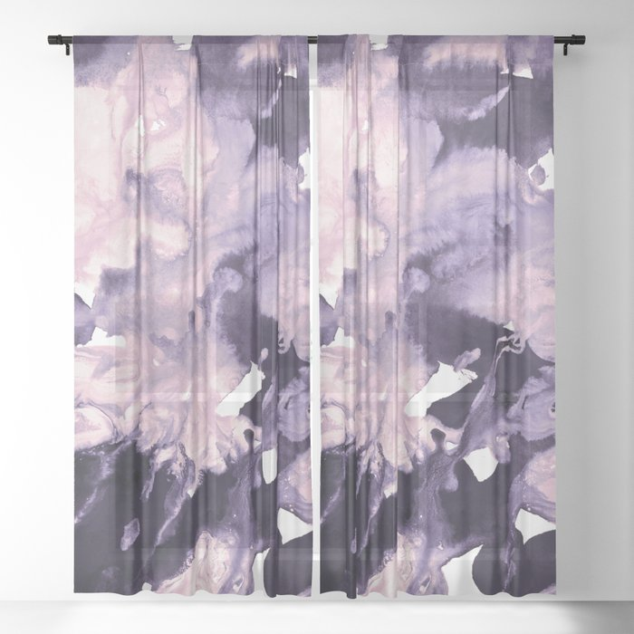 inkblot marble 9 Sheer Curtain