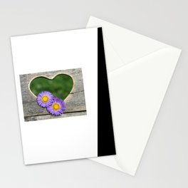 blossoms on heart Stationery Cards