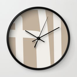 Neutral Abstract 5B Wall Clock