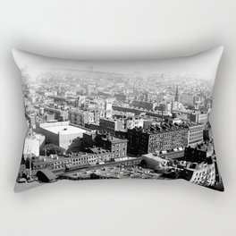 Birds Eye View of New York City. 1913 Rectangular Pillow