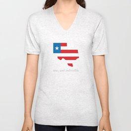 7th Flag of Texas Unisex V-Neck